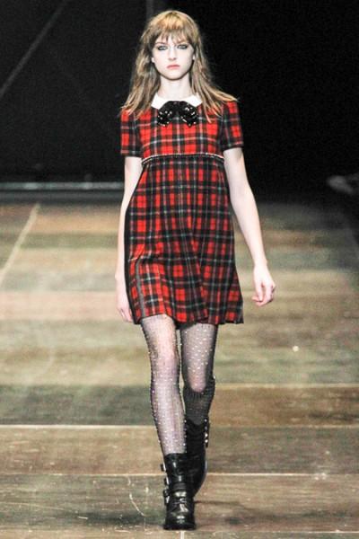 Vestido Tartán Saint Laurent
