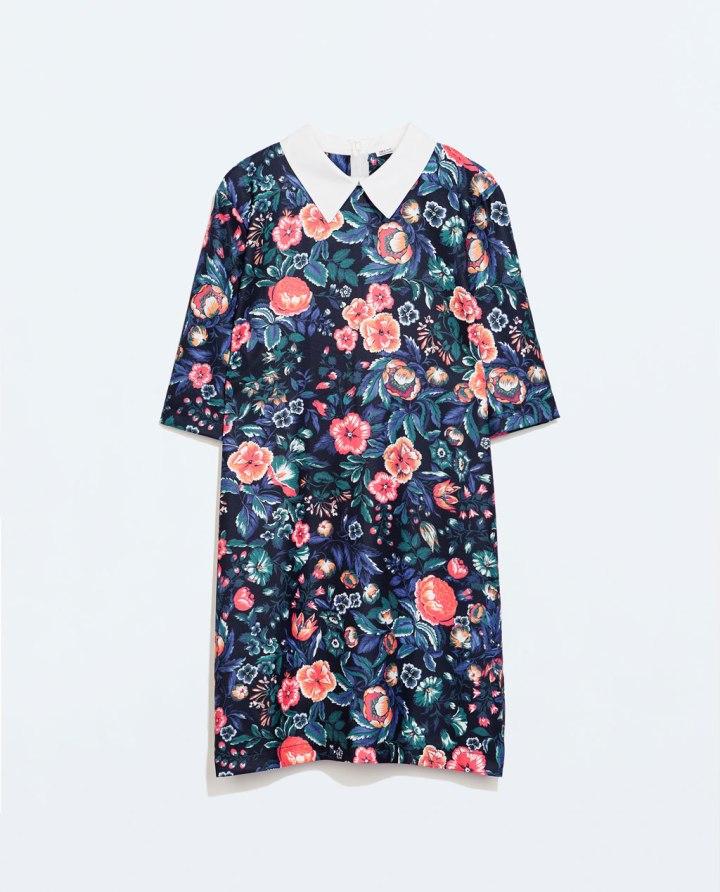 Vestido Flores Cuello Camisa 25,95 euros