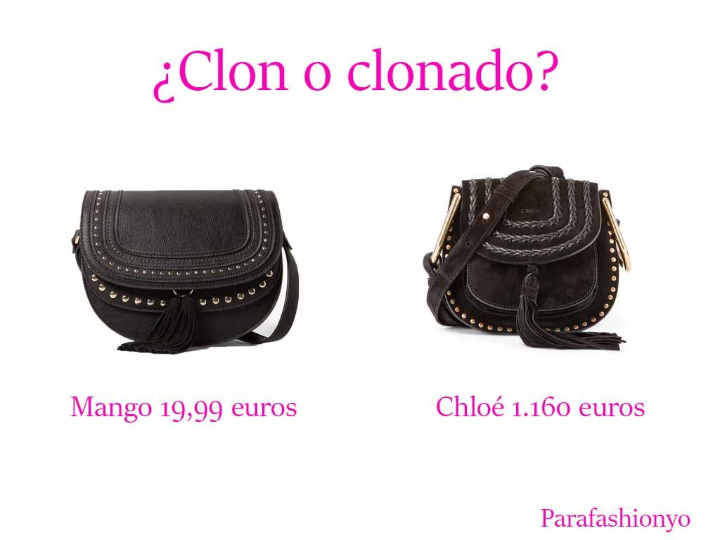 Los mi¨¦rcoles al clon: Bolso flecos Chlo¨¦ Versus Bolso Mango |