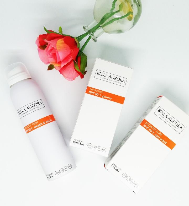 Nuevos productos de protección solar anti manchas para pieles sensibles de BellaAurora