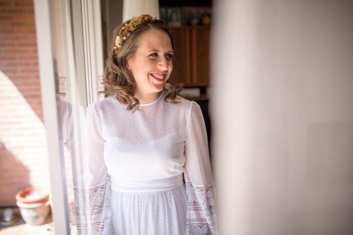 Mi vestido de novia es de Pronovias y lo llevó mi madre el día de suboda